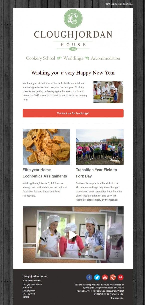 cloughjordan house happy new year beautiful email newsletters