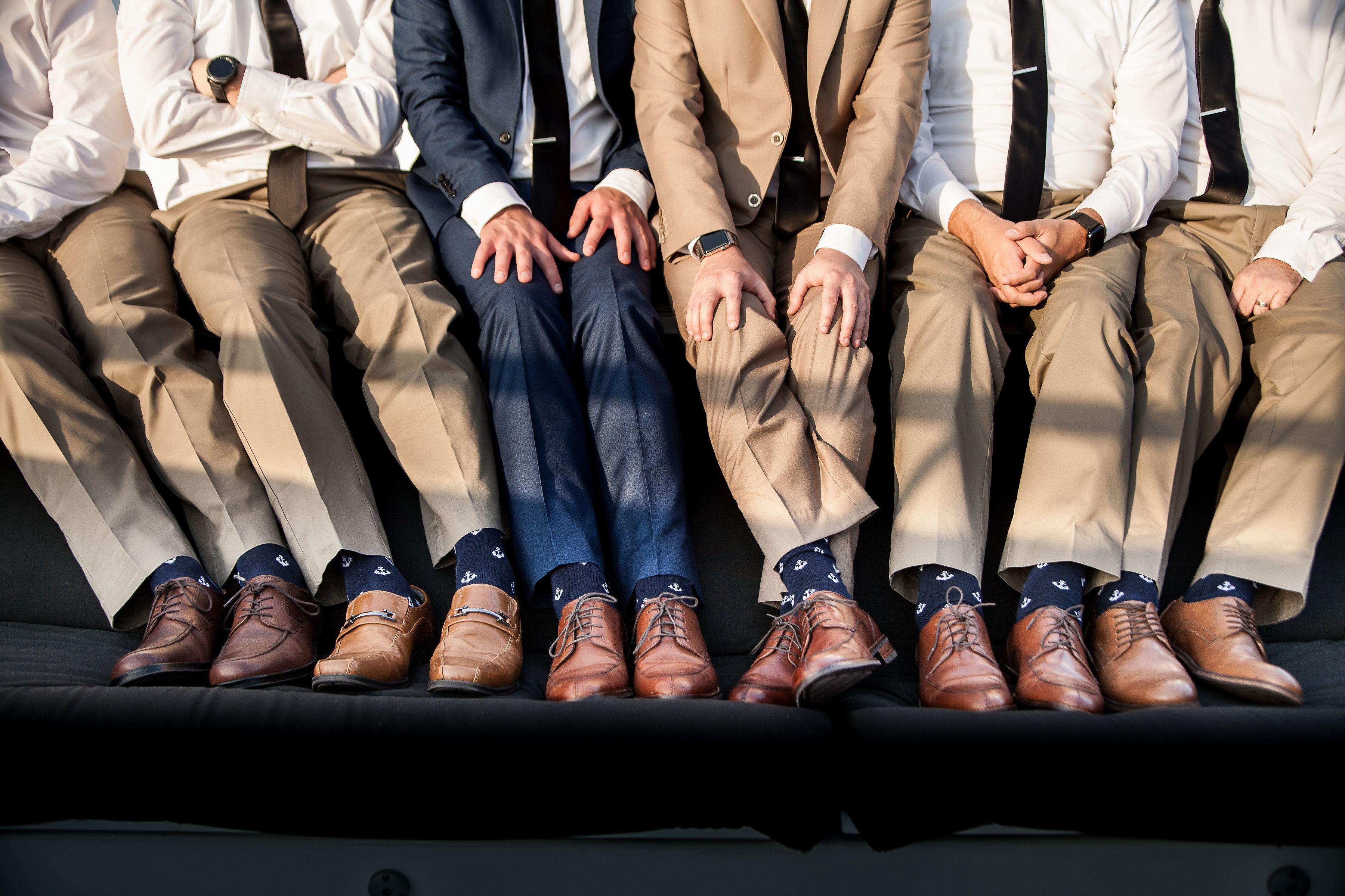Groomsmen aboard the icon newport beach wedding
