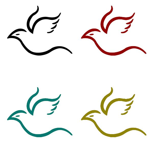 Flying Bird Simple Logo By Vespertilo On Deviantart With Images