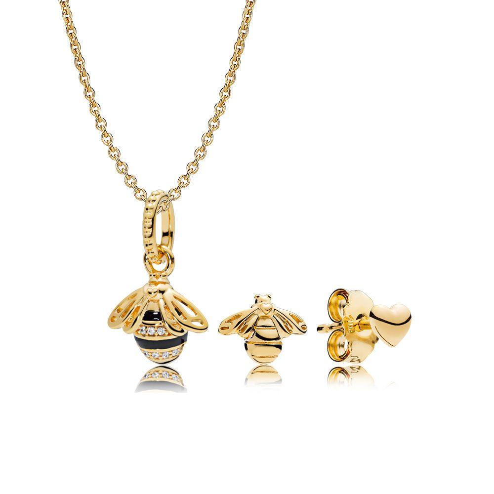 07fb885c6 PANDORA Shine Necklaces   Pandora UK   Pandora jewelry, Bee necklace ...