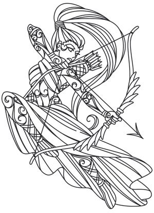 Artemis The Archer Coloring Pages Coloring Books Coloring Book Pages