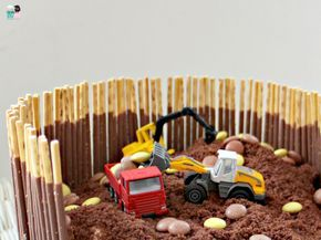 Bagger Kuchen Idee - Idiotensicher - Metterschling und Maulwurfn