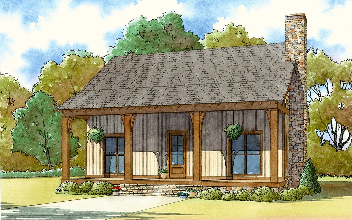 Plan 70537mk Rustic Country Getaway Country Style House Plans Cottage Plan Architectural Design House Plans