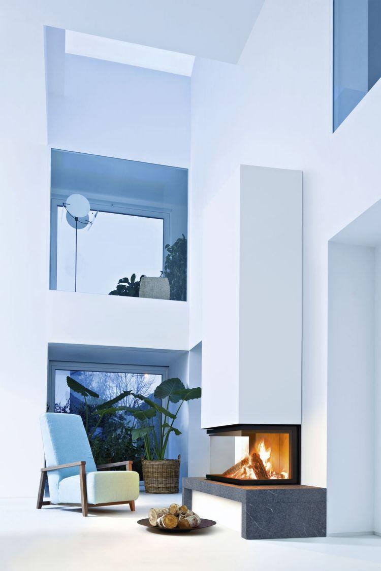 Moderes Ambiente Mit Kamin Im Minimalistischen Stil   Modell Duchamp