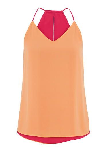 melon reversible chiffon tank (original price, $24) available at #Maurices