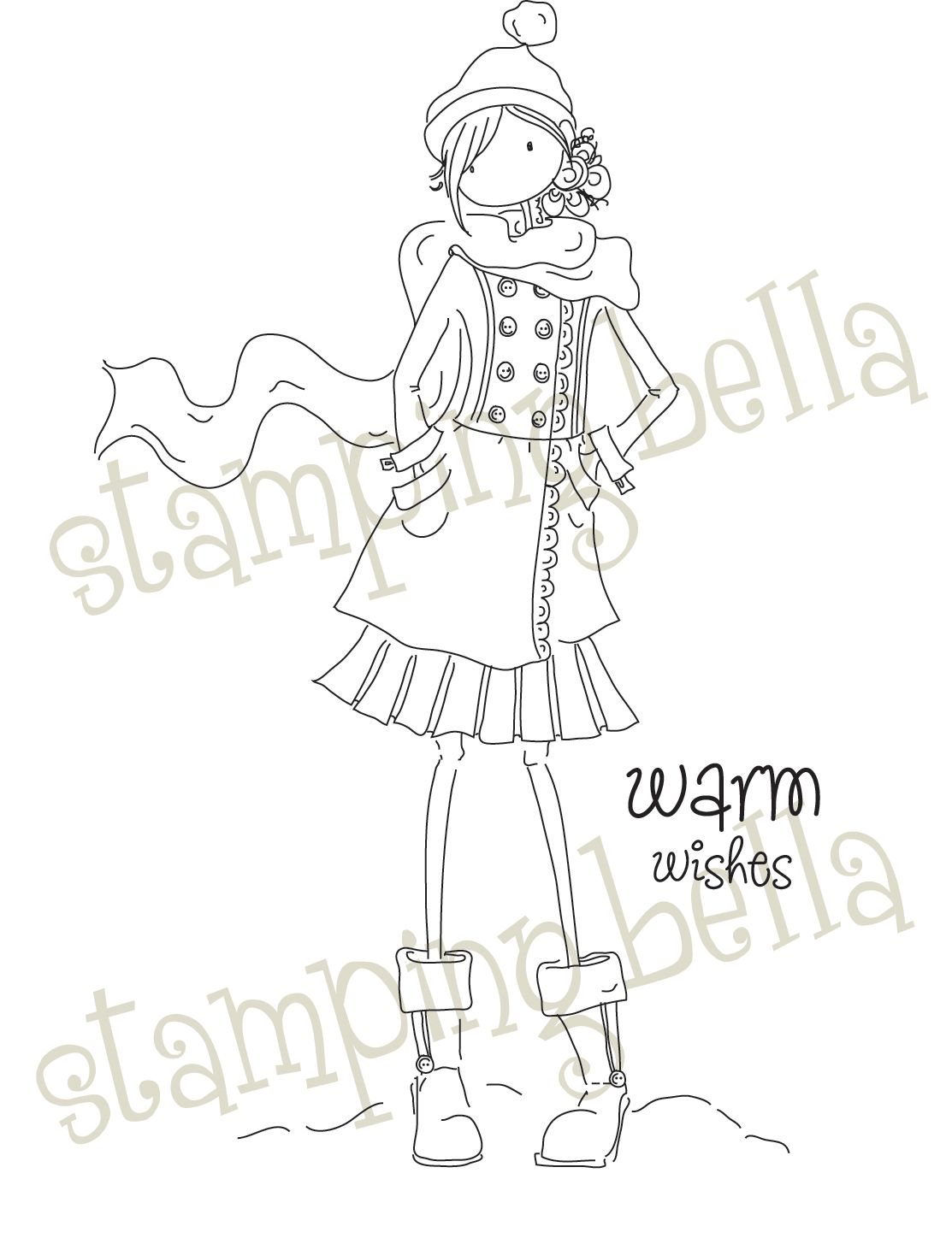 Stamping Bella Unmounted Rubber Stamp-Uptown Girl Quinn and Her ...