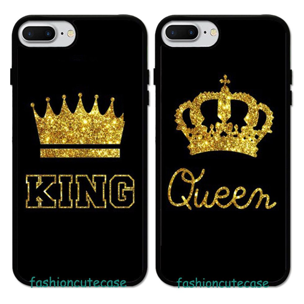 King   Queen Couple Rubber Phone Case Cover For iPhone 5 6S 7 8 Plus.   UnbrandedGeneric 7ced64f248cc