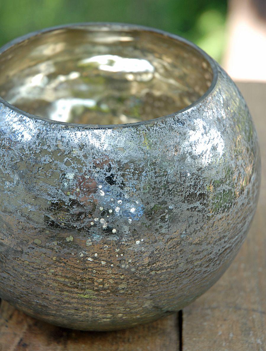 Mercury glass bubble bowl vase 5in wedding pinterest mercury mercury glass bubble bowl vase 5in reviewsmspy