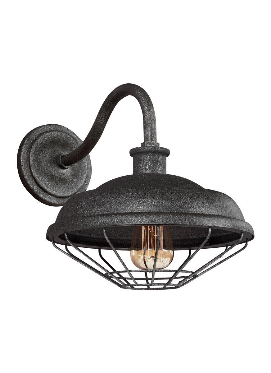 Feiss wbsgm lennex light inch slated grey metal outdoor