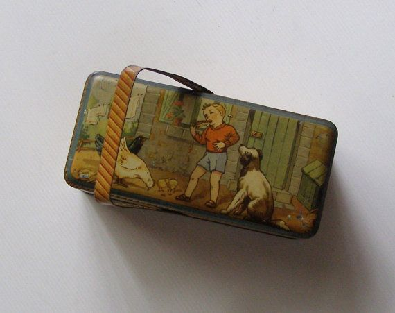 snack steel box / box has treats for children / by antiquityfrench