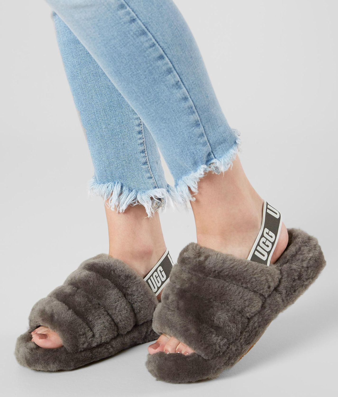 25974143333 UGG® Fluff Yeah Slide - Women's Shoes in Charcoal | Buckle | My ...