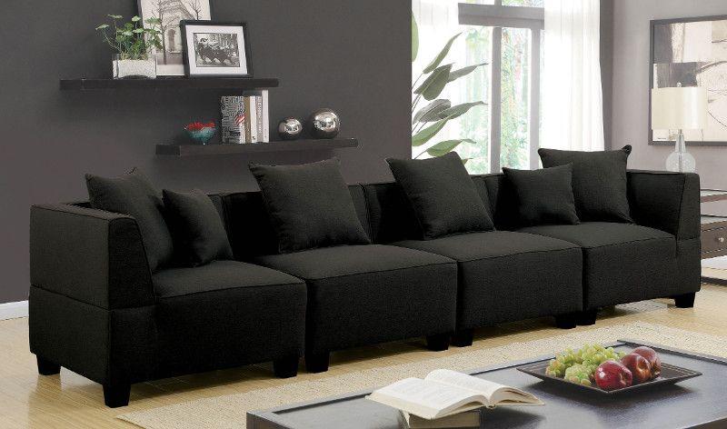 Swell Cm6369 4Pc 4 Pc Marian Gray Linen Like Fabric Modular Spiritservingveterans Wood Chair Design Ideas Spiritservingveteransorg