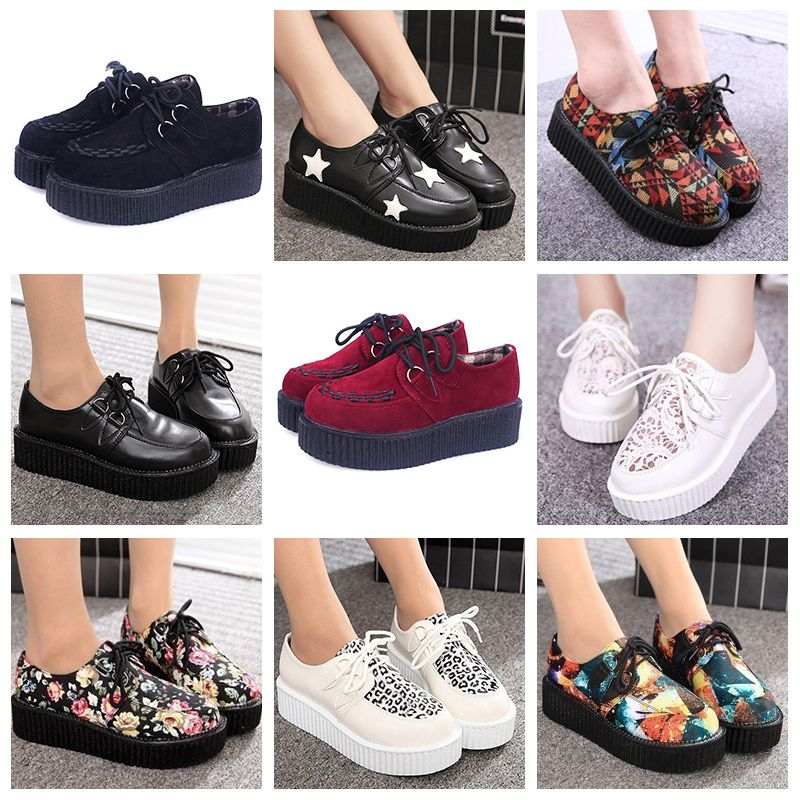 size 35-41 creepers shoes woman casual vintage plus size creepers