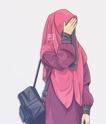 New Fashion Art Illustration Draw Beauty Ideas Hijab Cartoon Islamic Cartoon Drawing Cartoon Faces