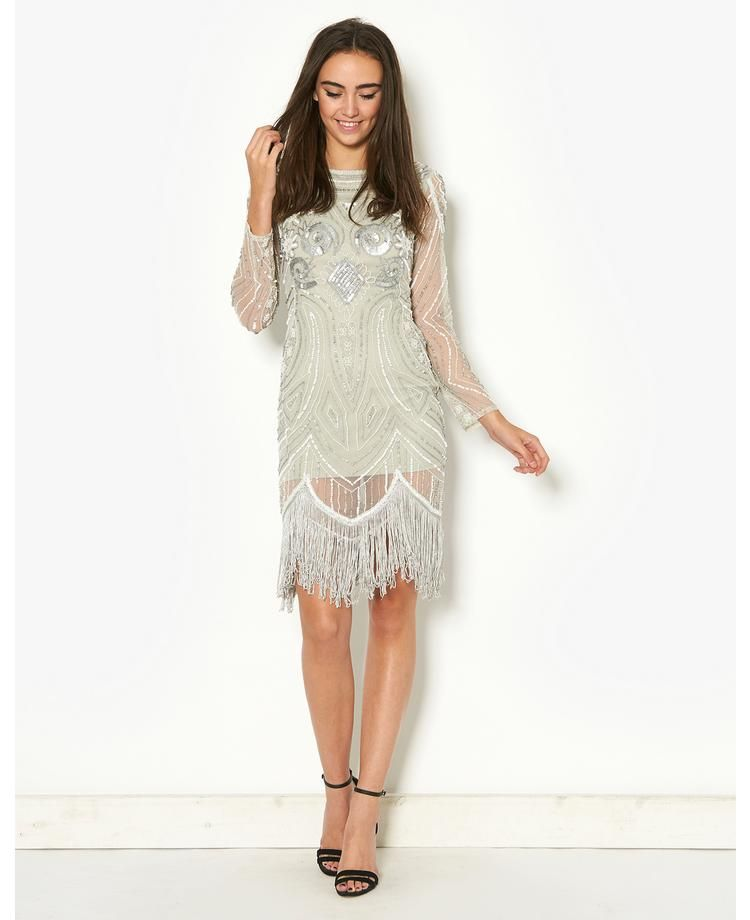 Frock & Frill Long Sleeved Flapper Dress | Charleston dress, Frock ...