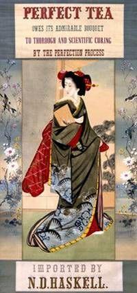Japanese Perfection Tea Vintage Poster