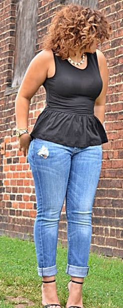 ae3b7c08542 Plus Size Outfits With Jeans 5 best