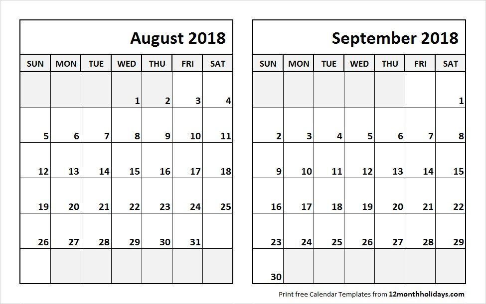 sep 2018 calendar