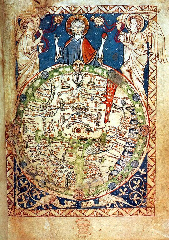 Bibliophilia on jerusalem psalter map 13th c map of the world with jerusalem at the centre gumiabroncs Images