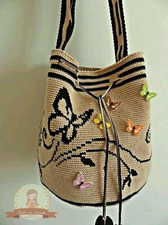 Pin de Martinho Ribeiro en Crochet | Pinterest | Mochilas, Bolsos y ...