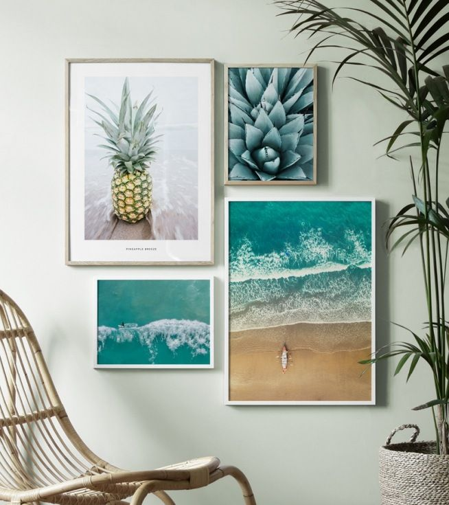 Inspiración para las decoraciones de pared y el collage con cuadros ...