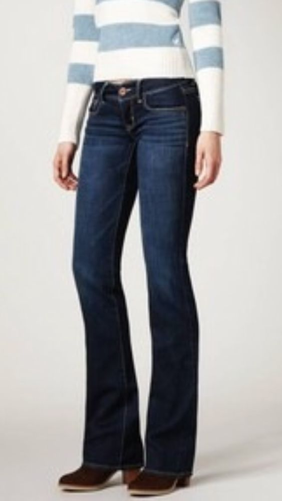 41bcb267545 American Eagle Slim Boot Cut Lowrise Women's Luxurious Jeans Size 2 X 30  New! #AmericanEagleOutfitters #BootCut