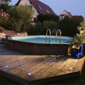 piscine hors sol bois samoa x x m - Piscine En Bois Semi Enterree Leroy Merlin