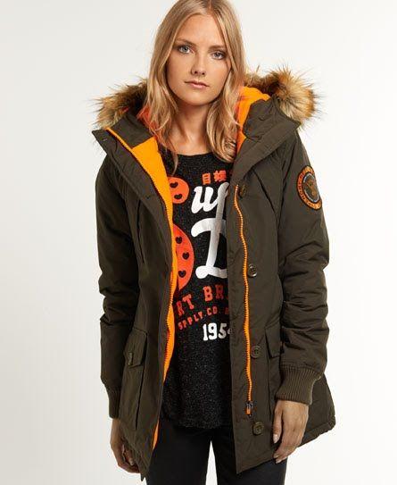 Superdry Everest Slim Polar Coat   coats   Pinterest   Jackets, Coat ... 437145692ba5