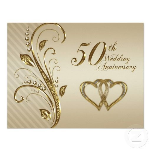 50th wedding anniversary invitation card golden wedding 50th wedding anniversary invitation card stopboris Image collections