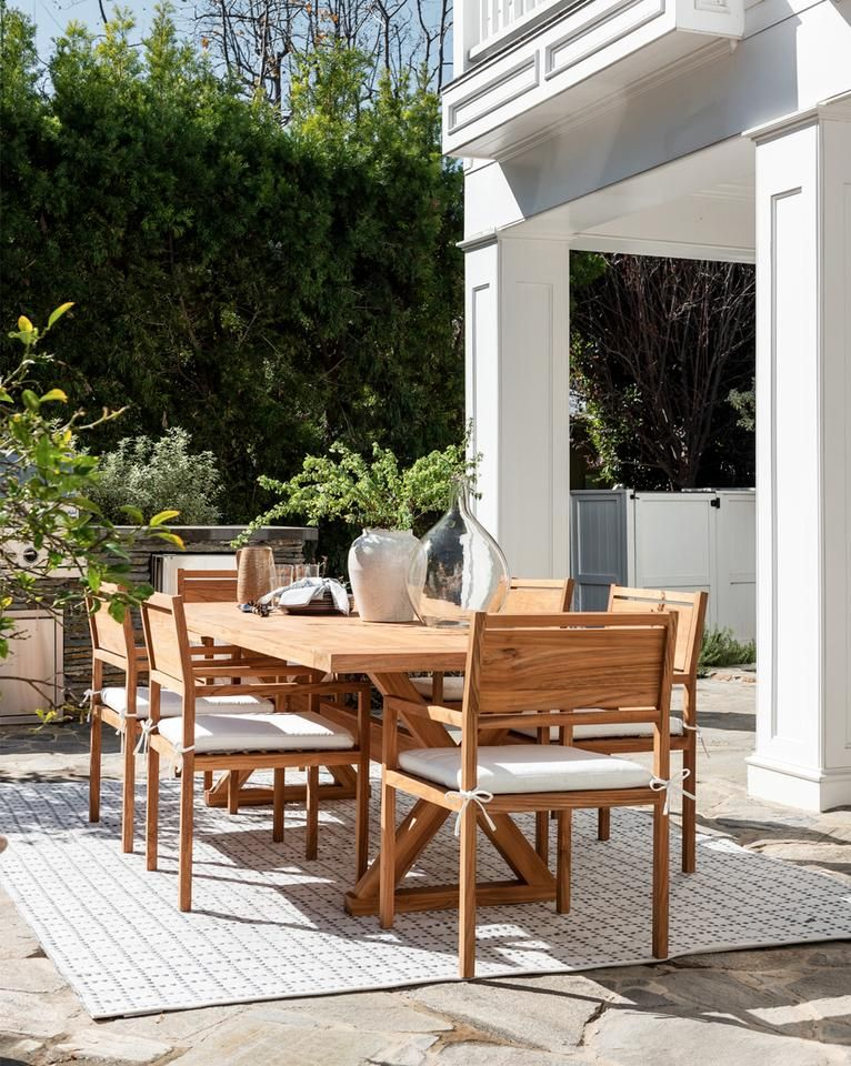 Roden Outdoor Dining Table Natural In 2020 Outdoor Furniture