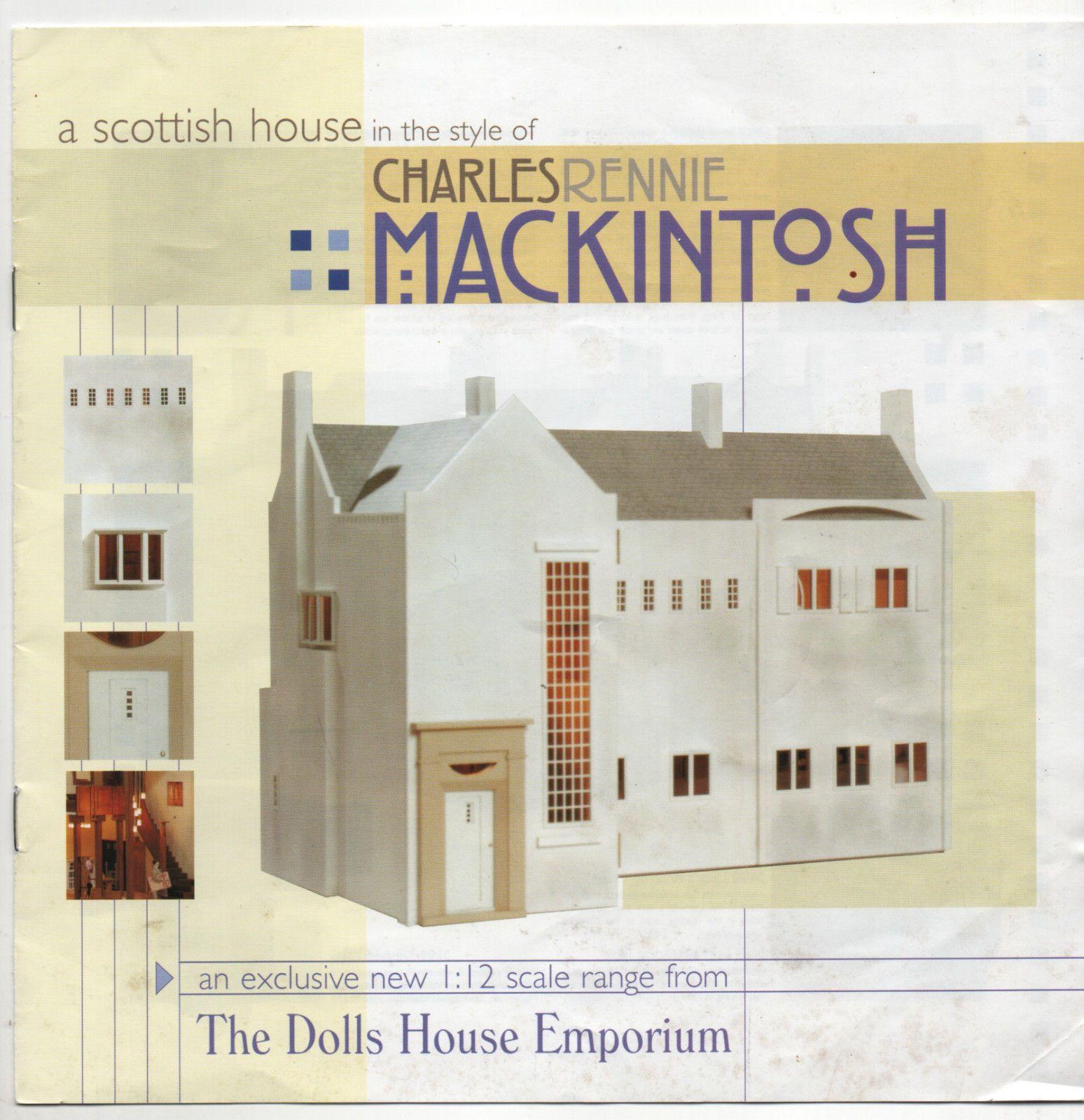 Dolls House Emporium Charles Rennie Mackintosh Catalogue Rare