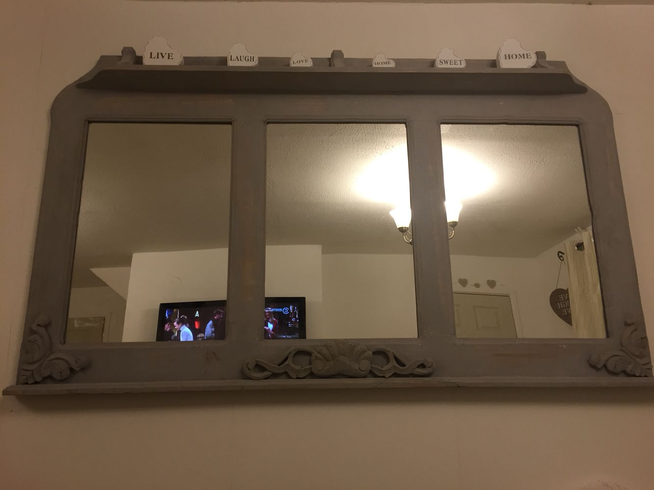 Chalk mirror very large