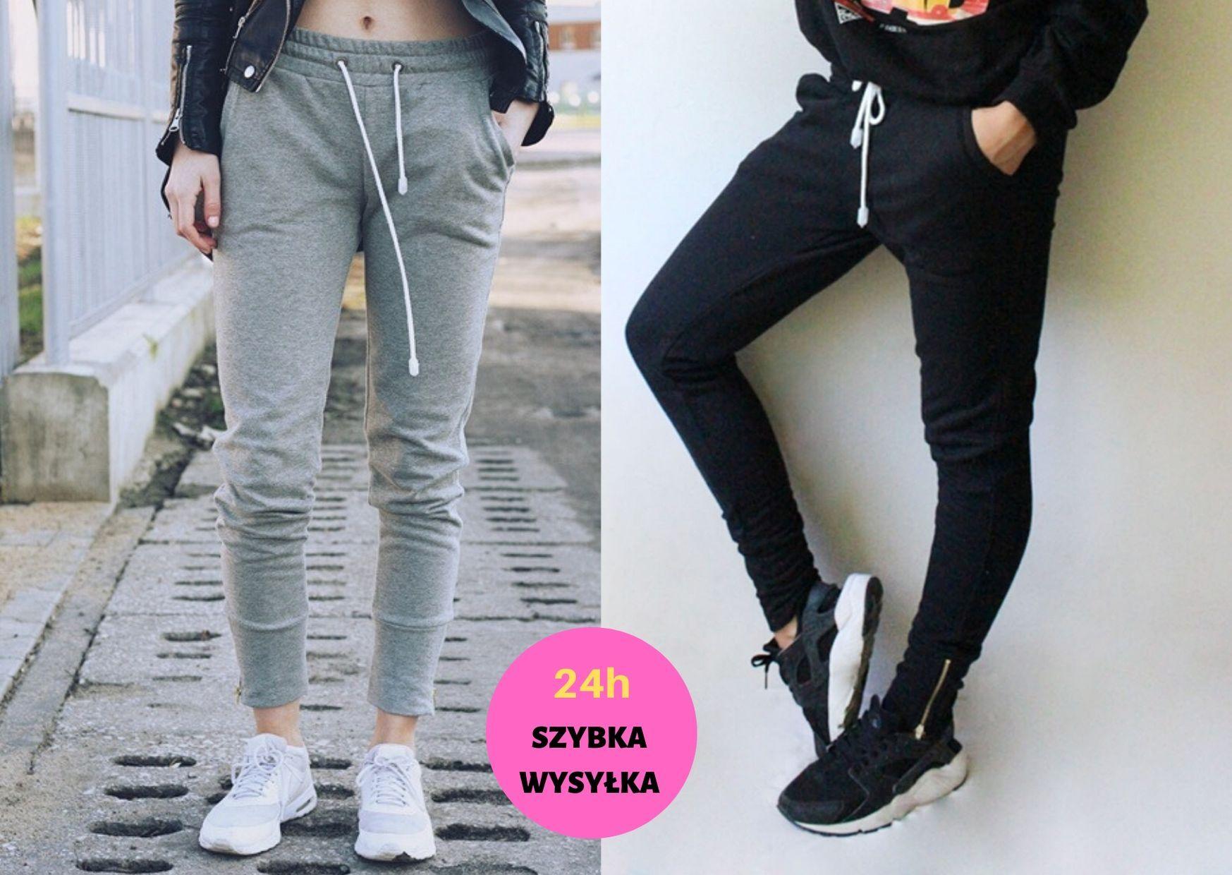Dresy Damskie Zamki Zwezane Polski Produkt 8785185563 Oficjalne Archiwum Allegro Sweatpants Pants Fashion