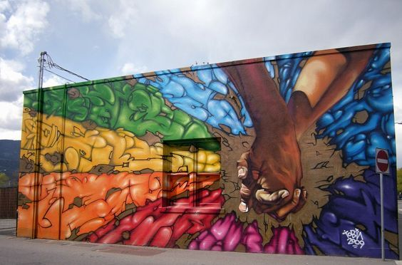 Striking Mural Celebrating Pride Month And Diversity Art Murals Street Art Public Art