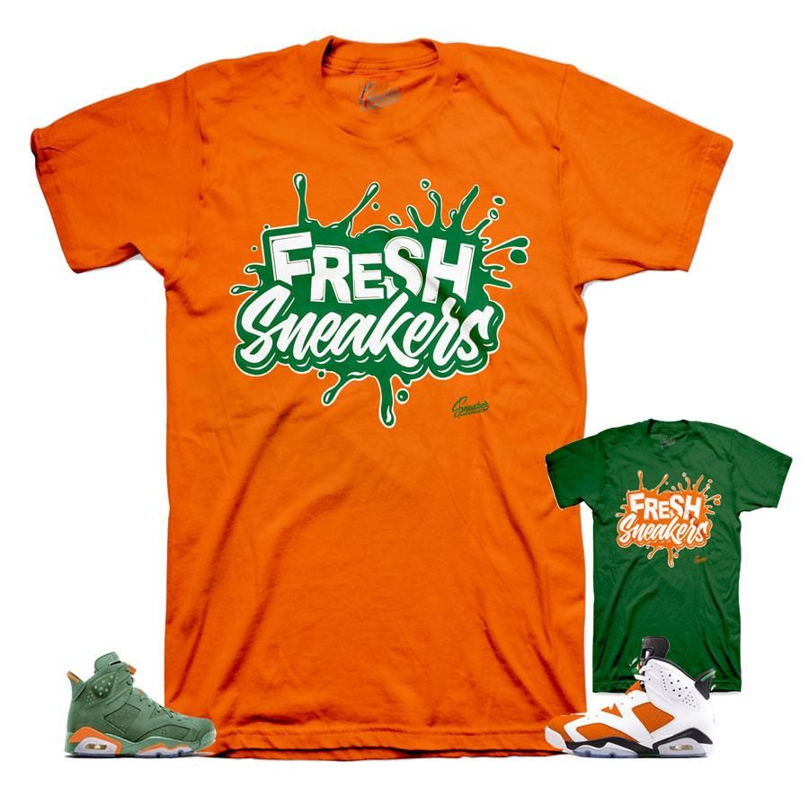 c2a8ae150ff882 Shirts match Jordan 6 like mike shoes to match 6s gatorade inspired sneaker  colorway. ST Clothing - Fresh Sneakers Shirt -100% Cotton -Fits True To  Size ...