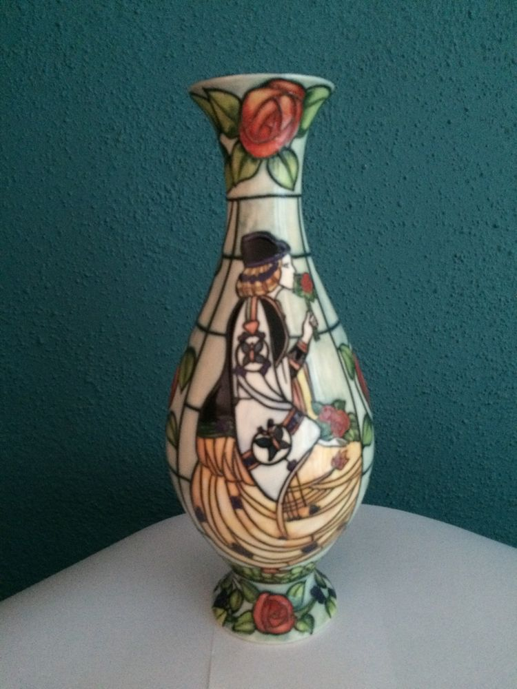 Old Tupton Ware Retired Lady Gascoigne Vase 10 Inches Tall Old