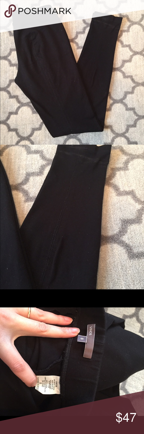 Vince Leggings Amazing leggings that are nice and thick.  Has some markings on the bottom that will likely come out with a clean. Vince Pants Leggings