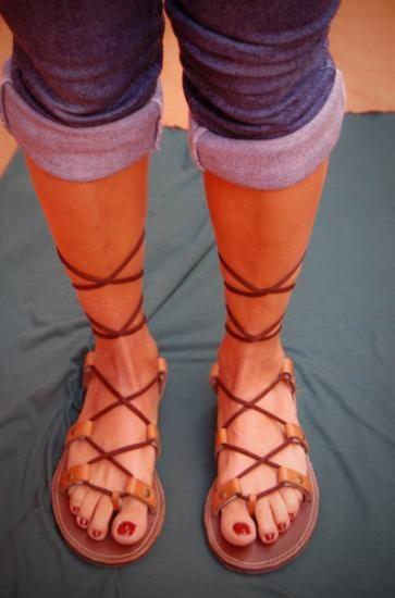 sandalias romanas  piel,goma,microporoso patronaje de calzado,armado y aparado