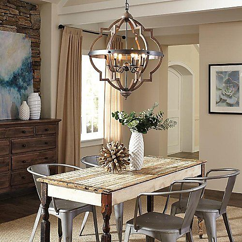 Socorro 6 Light Foyer Chandelier Farmhouse Dining Room Lighting