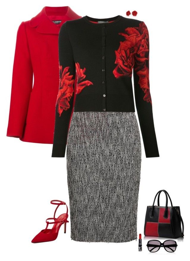 """Autumn red"" by julietajj on Polyvore featuring Dolce&Gabbana, MSGM, Alexander McQueen, Jean-Michel Cazabat, Manic Panic, Bling Jewelry and Chloé"