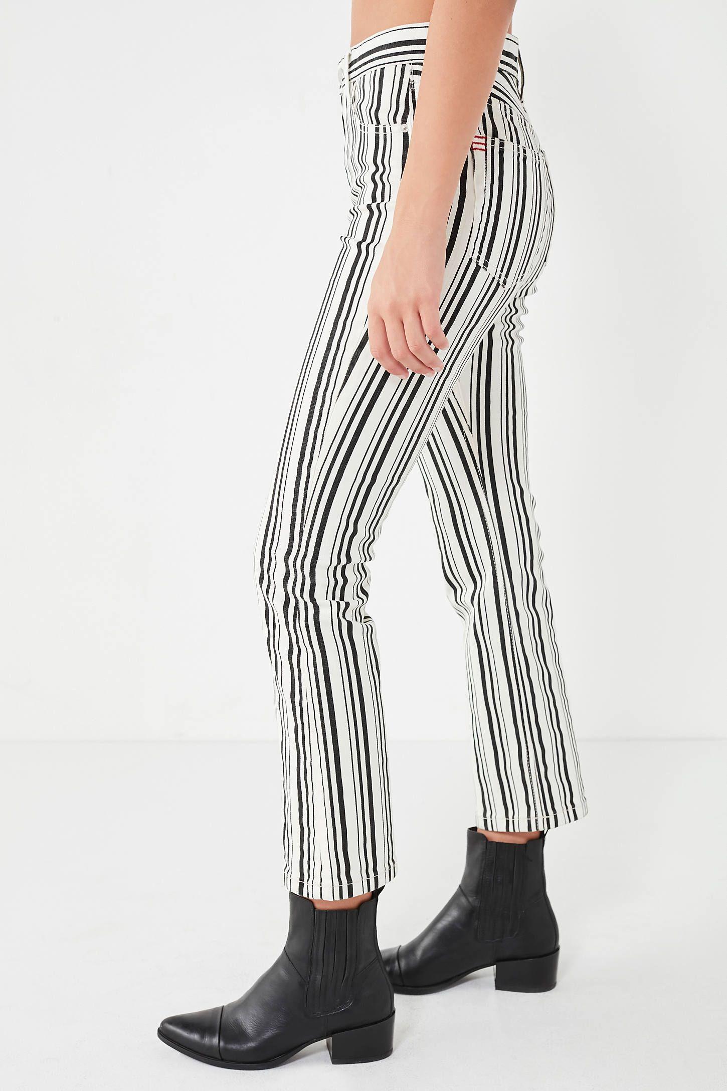 b7779b843591c BDG High-Rise Cropped Kick Flare Jean – Stripe in 2019