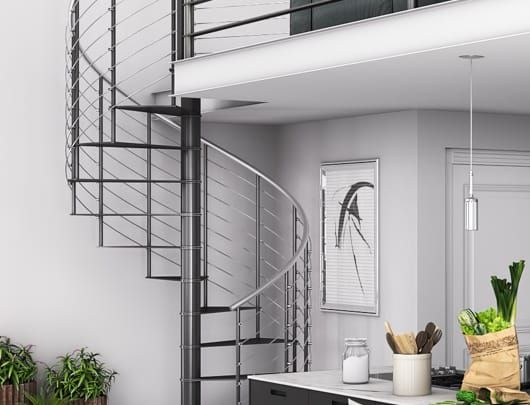Best The Barrot Stainless Railing Spiral Stairs Stairs 400 x 300