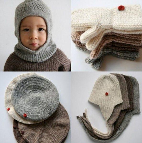 Warm the kids with Esencia winter woollies | Kopfbedeckungen, Hauben ...