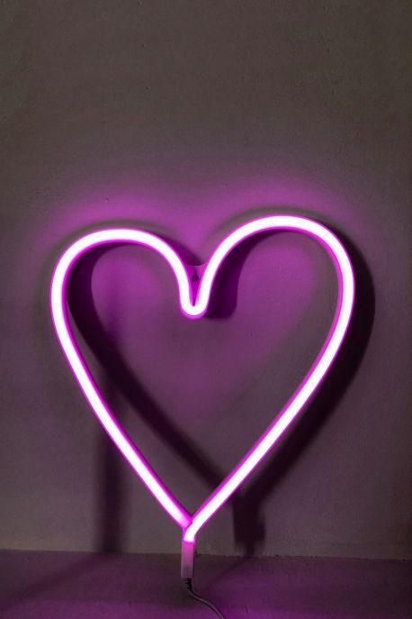 Neon Rose Inscription Coeur Alimentation Sur Prise Fonctionne Avec Un Interupteur Marche Arret Le Neon Est Fait Lampe Neon Fond D Ecran Telephone Lumiere Neon