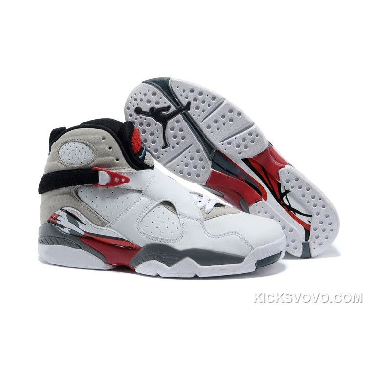 Air Jordan 8 Bugs Bunny High White Grey at kicksvovo.com