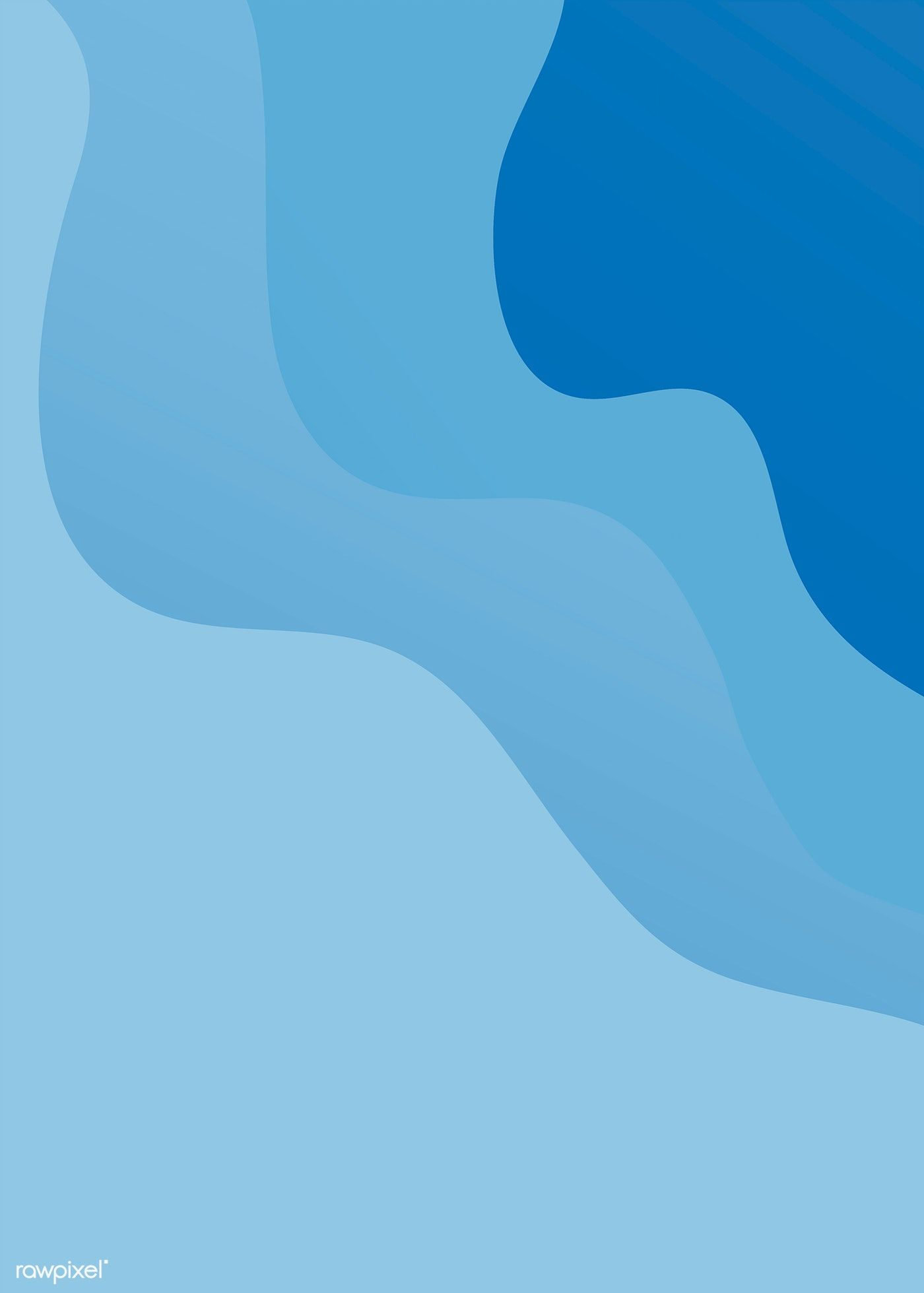 Blue Flowing Abstract Background Vector Free Image By Rawpixel