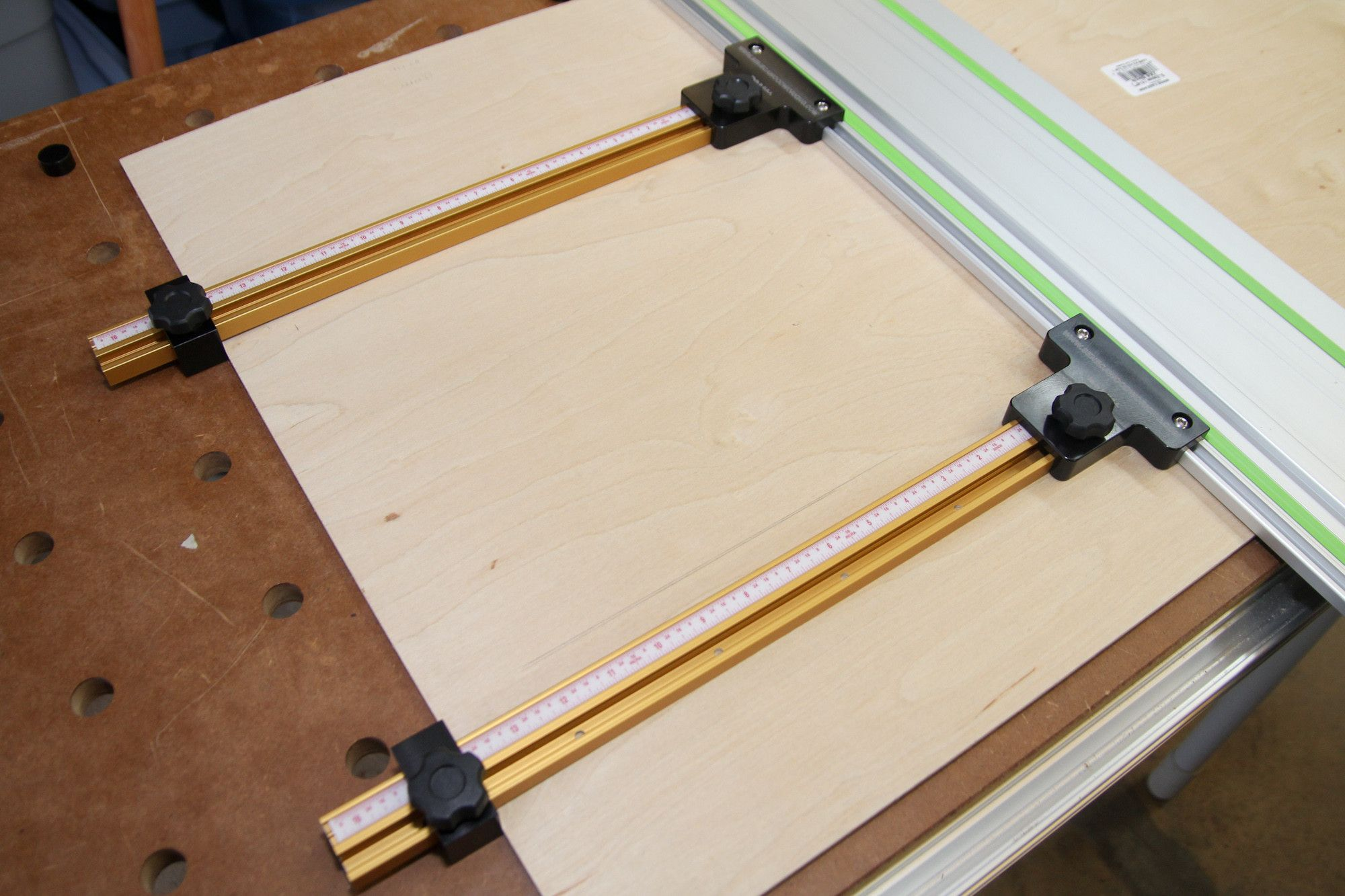 Parallel guide system for festool and makita track saw for Woodworking guide