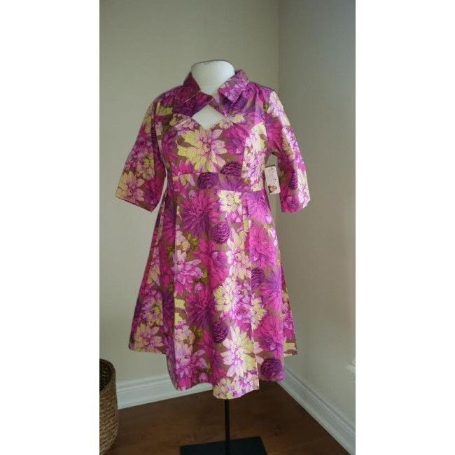 Daphne-Plus-Size-Dress-Pink