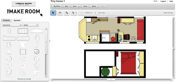 Website That Lets You Design Your Own Home Easily Online For Free Lots Of Premade Icons As Well Tiny House Layout Tiny House Appliances Tiny House Big Living