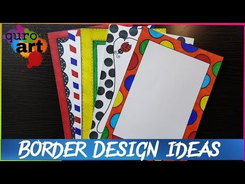 st border designs on paper project work borders for projects youtube also rh in pinterest